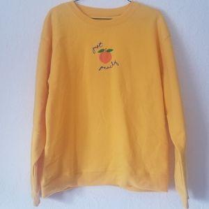 Just peachy sweatshirt